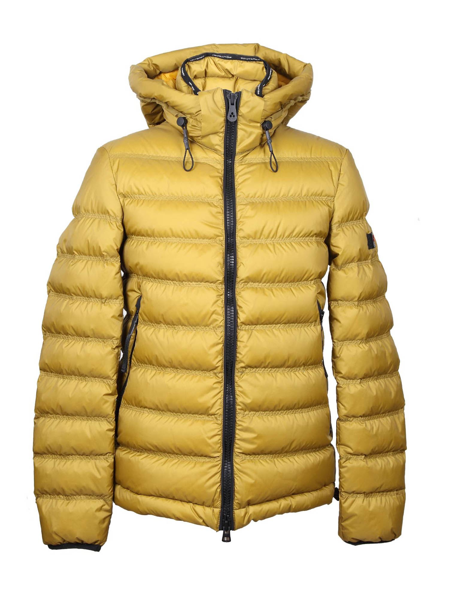 Peuterey Downs BOGGS DOWN JACKET IN MUSTARD COLOR
