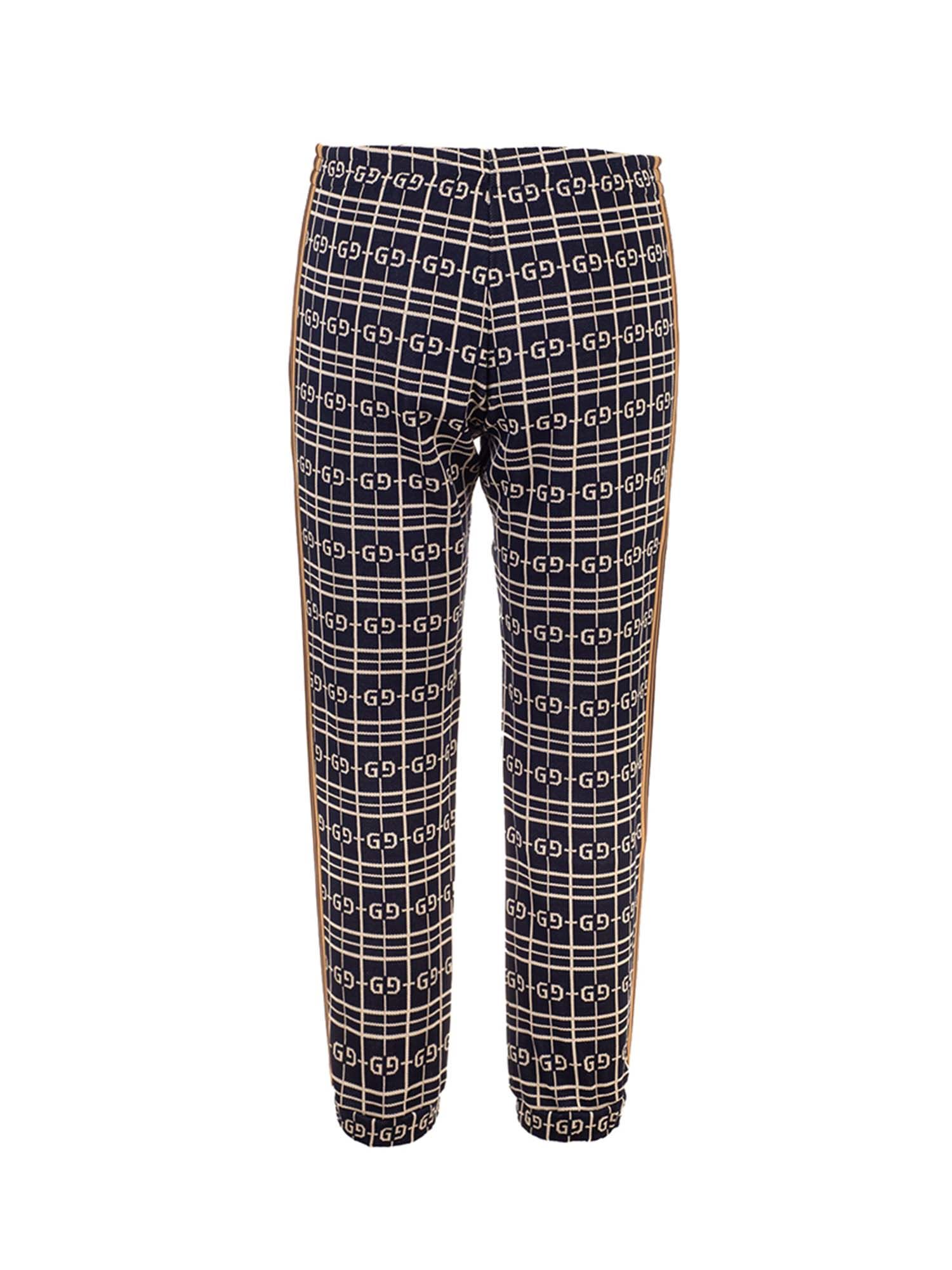 Gucci CHECKED PANTS IN BLUE