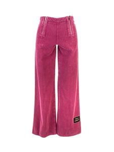 Gucci - Flared corduroy pants in pink