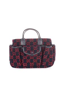 Gucci - Shopper with GG motif in blue
