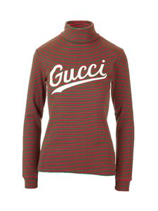 Gucci - Turtleneck with print in red