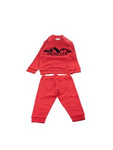 Moncler Jr - Suit in Moncler Kids tracksuit in red