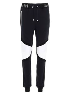 Balmain - Black tracksuit trousers with inserts