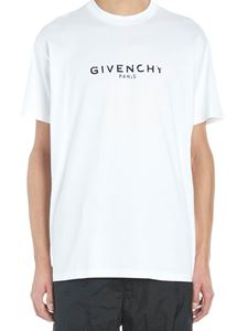 Givenchy - Destroyed Logo t-shirt in white