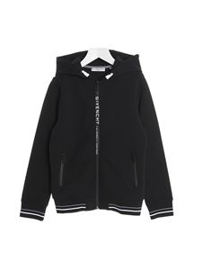 Givenchy - Branded zipped sweatshirt in black