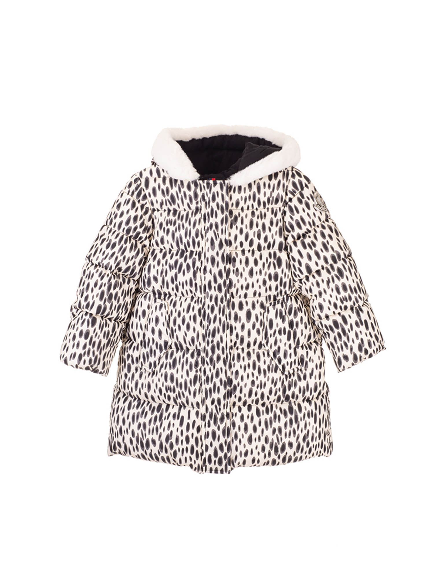 Moncler Jr MONCLER KIDS ANIMALIER DOWN JACKET IN WHITE
