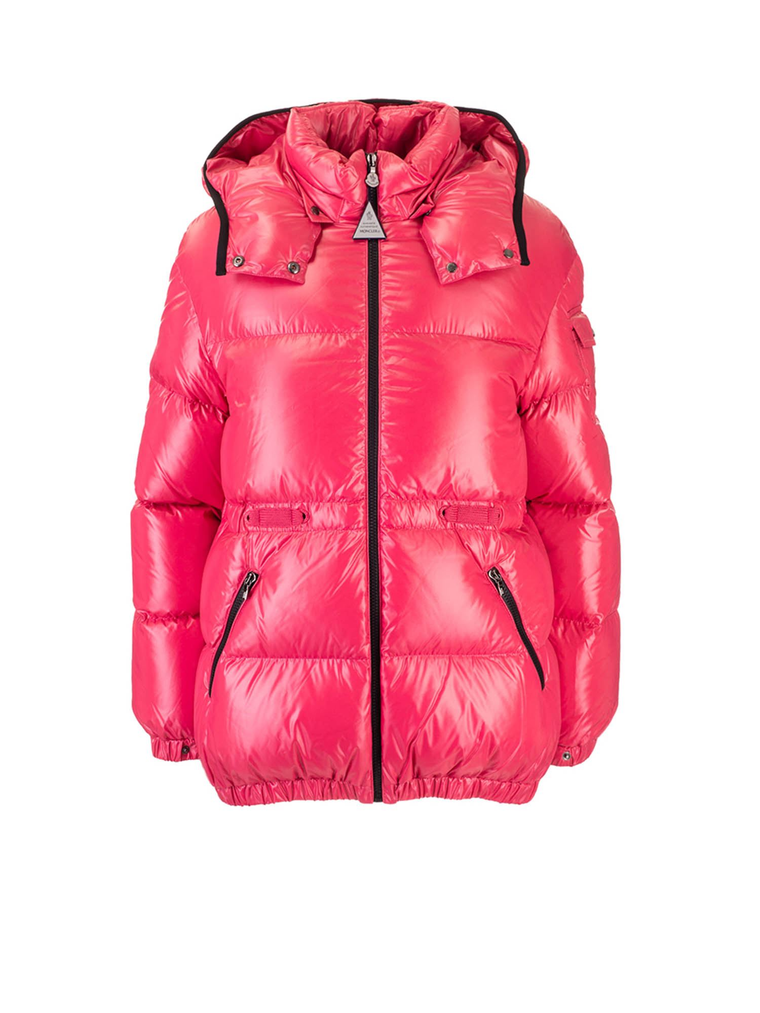 Moncler Jr BADYMORE DOWN JACKET IN CORAL COLOR