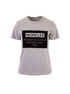 Moncler Jr - Moncler Kids logo t-shirt in grey