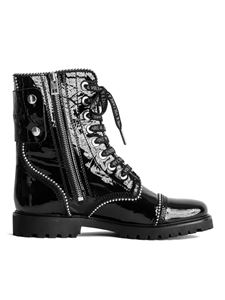 Zadig & Voltaire - Joe Wrinkle Studs ankle boots in black