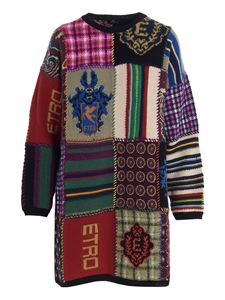 Etro - Patchwork knitted dress multicolor