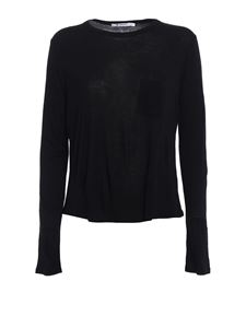 Alexander Wang - Rayon T-shirt with patch pocket in black