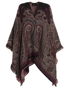 Etro - Paisley cape in brown