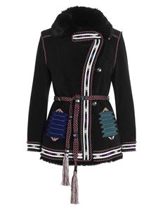 Etro - Embroidered logo in black