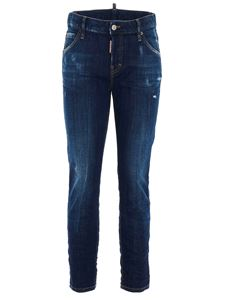 Dsquared2 - Jeans Cool Girl Cropped blu