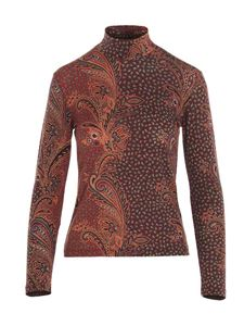 Etro - Printed turtleneck in shades of brown