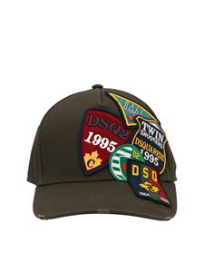 Dsquared2 - Logo patch baseball cap in green