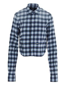 Dsquared2 - Check print shirt in black and white