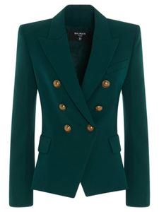 Balmain - Branded buttons jacket in green