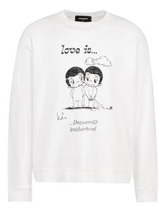 Dsquared2 - Love is... sweatshirt in white