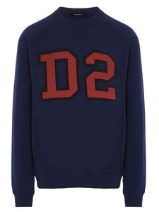 Dsquared2 - Logo printed sweatshirt in blue