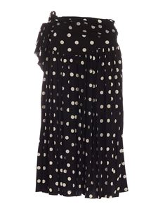 Marc Jacobs  - Skirt with white polka dots in black