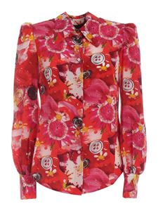 Marc Jacobs  - Shirt with print in shades of red