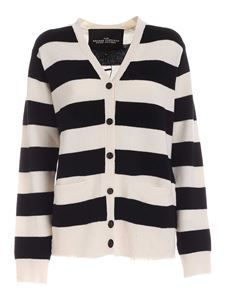 Marc Jacobs  - Striped cardigan in white and black