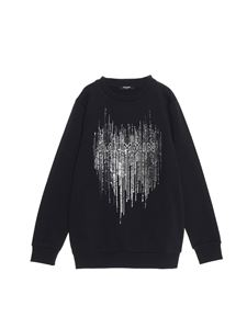 Balmain - Sequined sweatshirt in black
