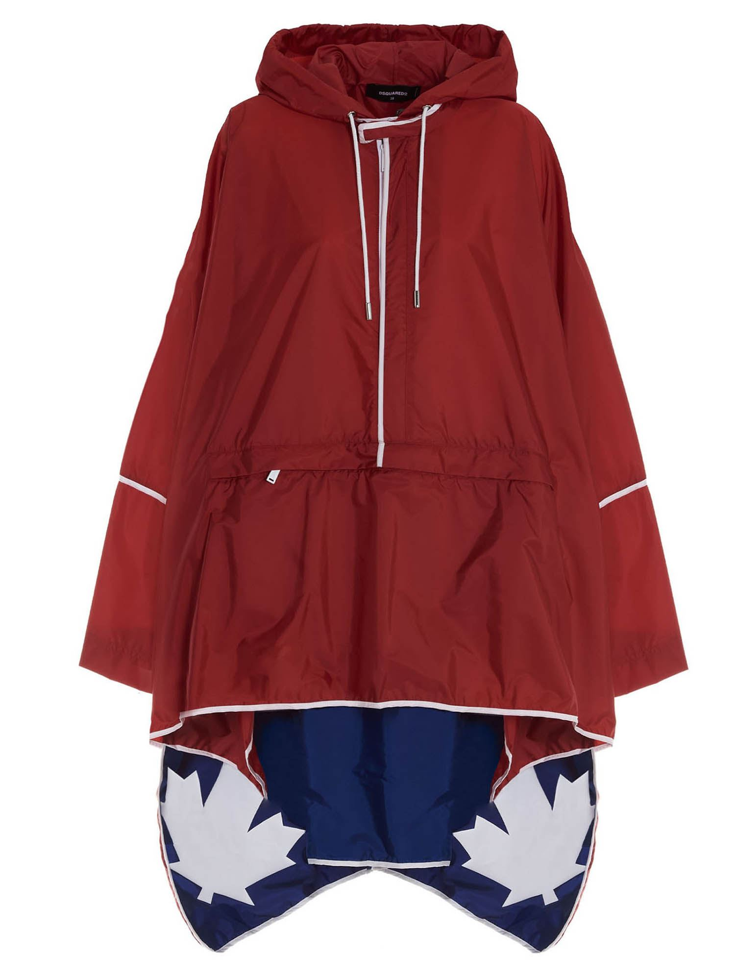 Dsquared2 Clothing LOGO ANORAK IN RED AND BLU