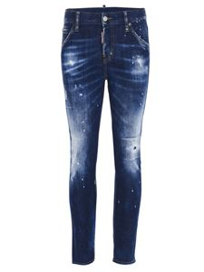 Dsquared2 - Faded effect jeans in blue