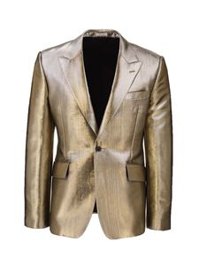 Alexander McQueen - Laminated Jackets in gold color