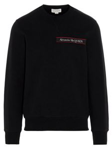 Alexander McQueen - Selvedge Logo Tape sweatshirt in black