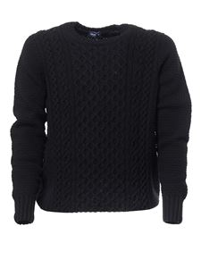 Drumohr - Cable-knit crewneck sweater in black