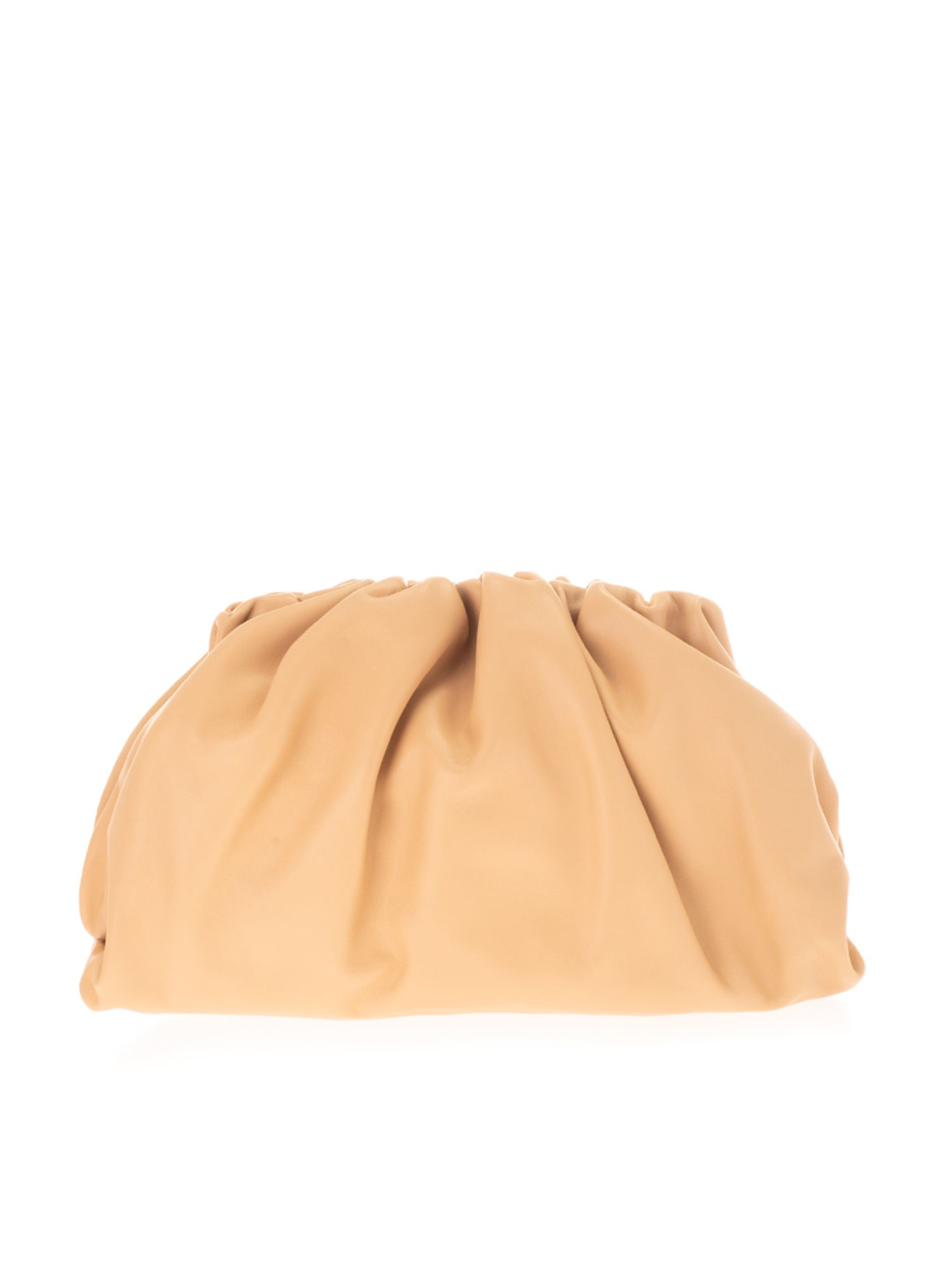 Bottega Veneta THE POUCH CLUTCH IN ALMOND GOLD