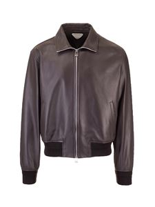 Bottega Veneta - Leather bomber in brown