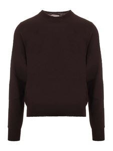 Bottega Veneta - Pullover in lana merino marrone