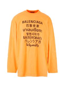 Balenciaga - Languages sweater in orange