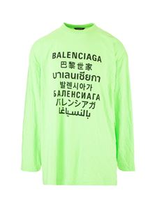 Balenciaga - Languages sweater in fluo green