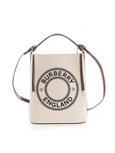 Burberry - Peggy small bucket bag in beige