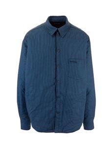 Balenciaga - Padded Large Fit Shirt in blue