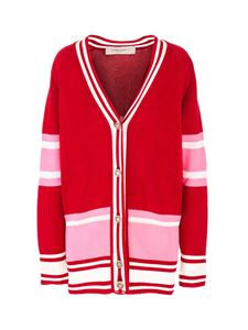Golden Goose - Striped cardigan in red and pink