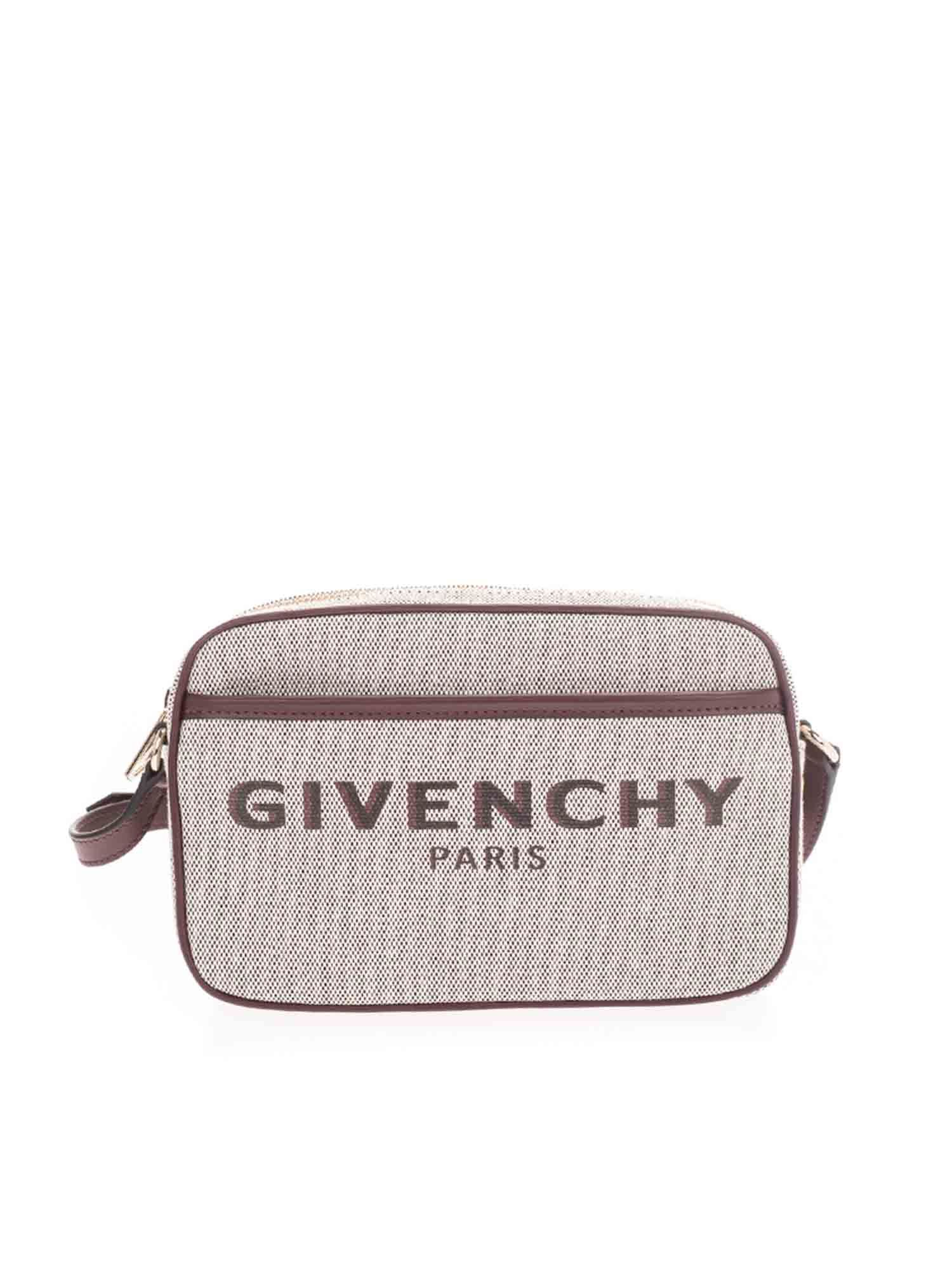 Givenchy BOND BAG IN BEIGE AND AUBERGINE