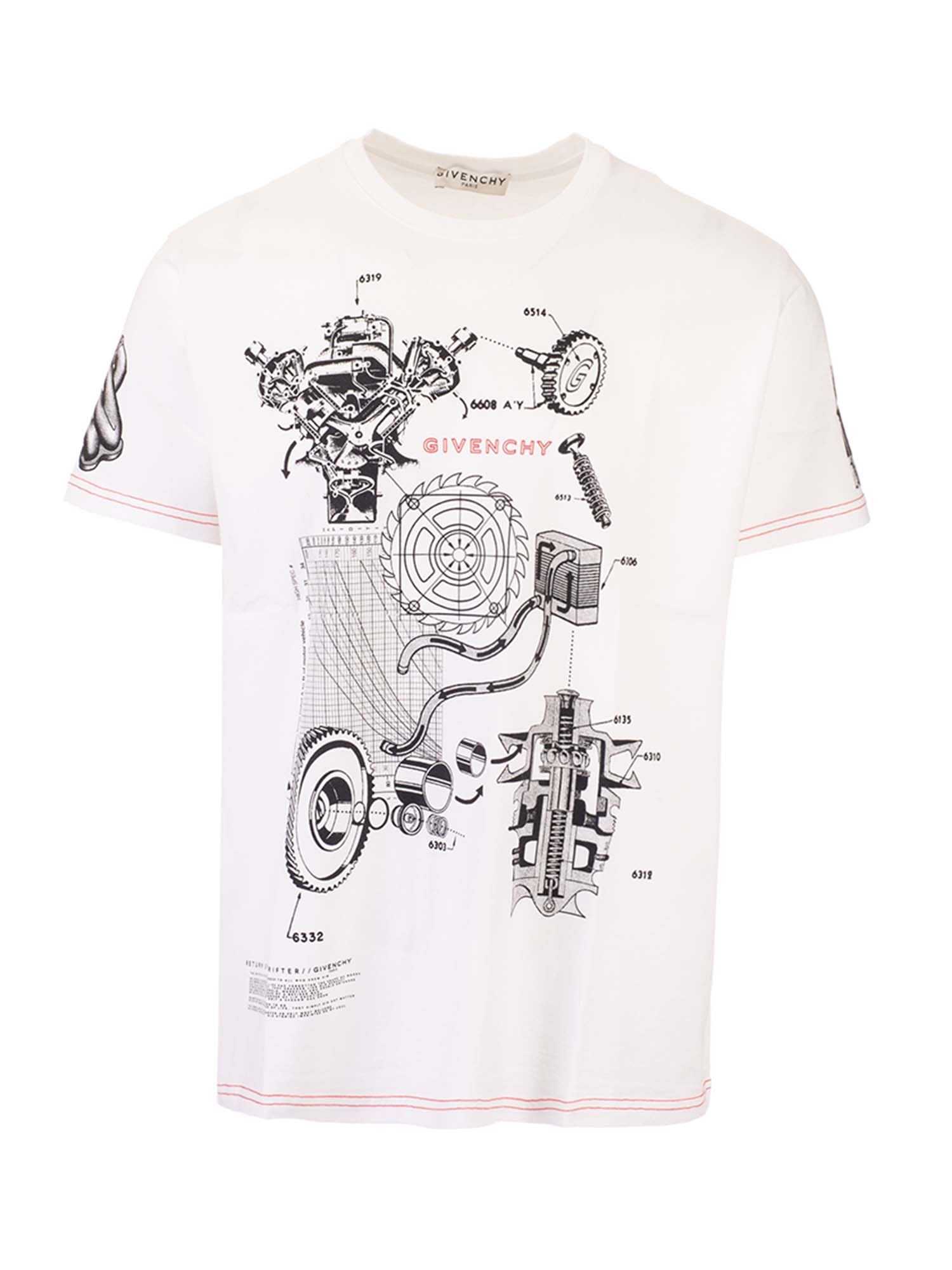 Givenchy SCHEMATICS T-SHIRTS IN WHITE