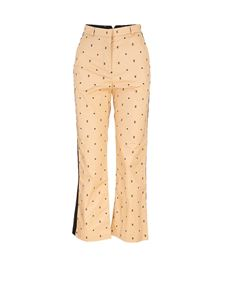 Burberry - Monogram pants in beige and black