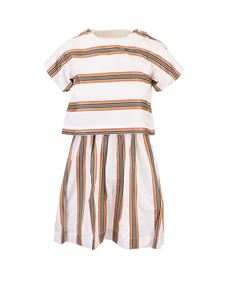 Burberry - Striped dress in white