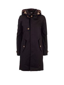 Burberry - Icon Stripes detailed trench coat in black