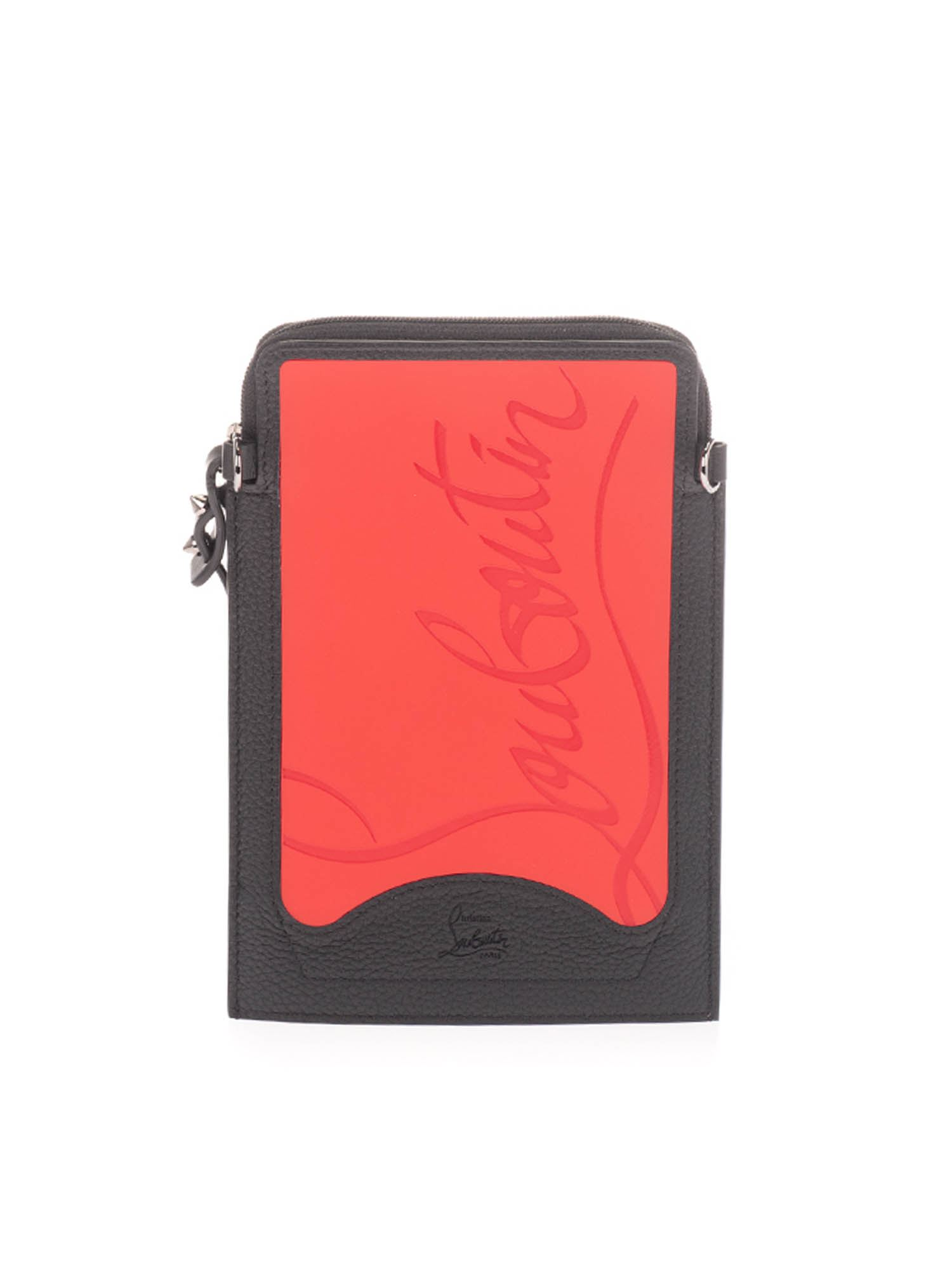 Christian Louboutin LOUBI PHONE CASE IN RED AND BLACK