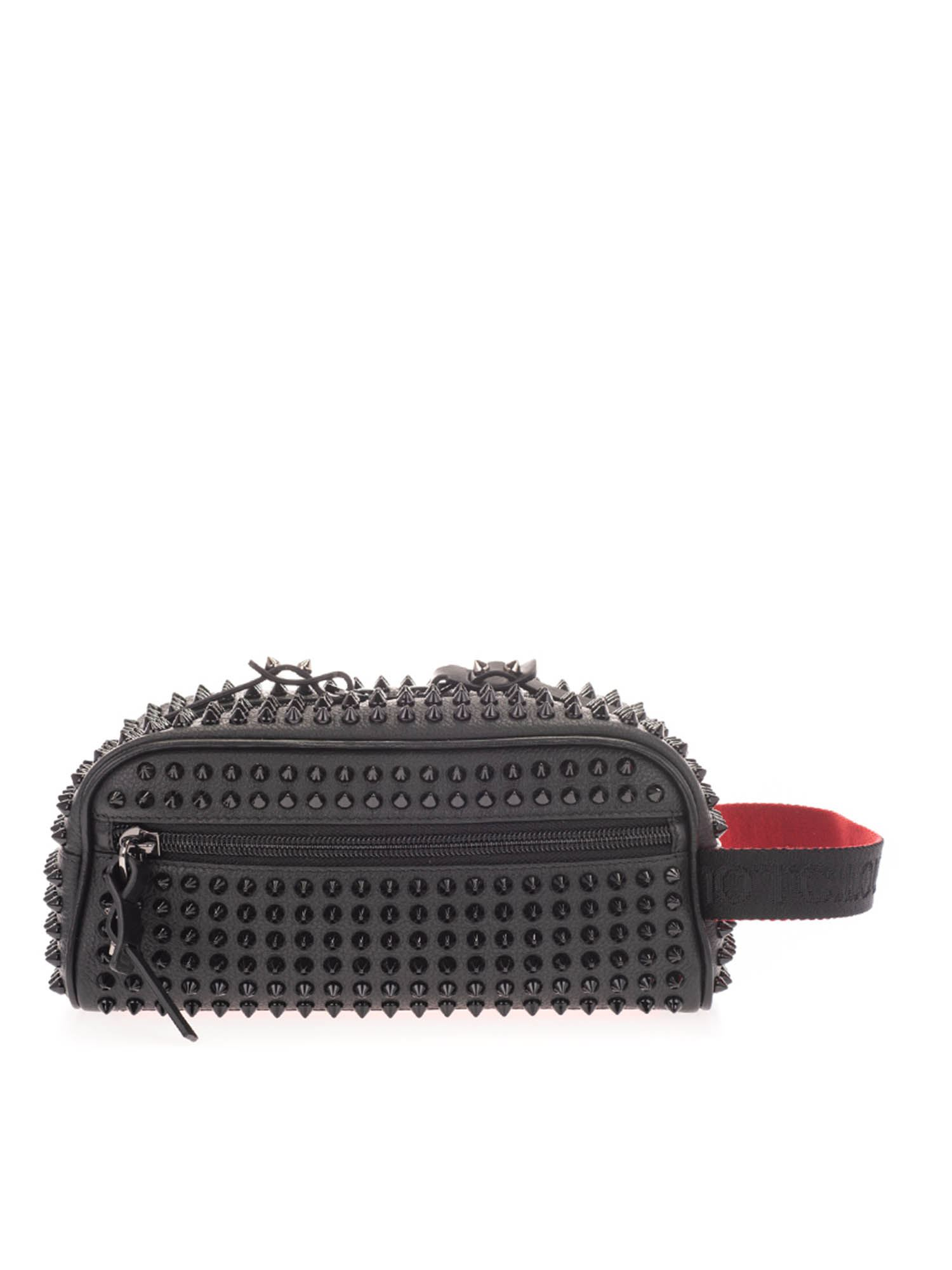 Christian Louboutin BLASTER WASH BAG IN BLACK