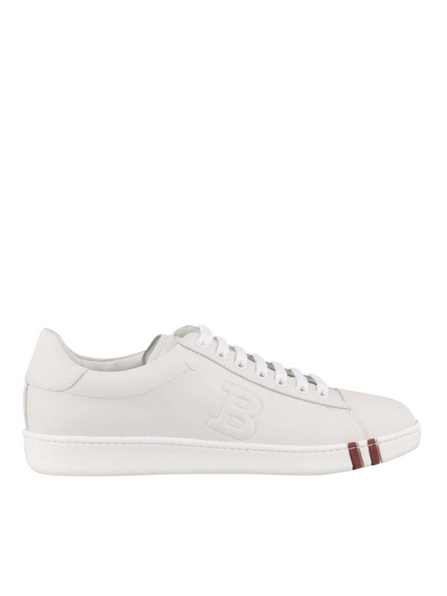 Bally LEATHER SNEAKERS IN WHITE