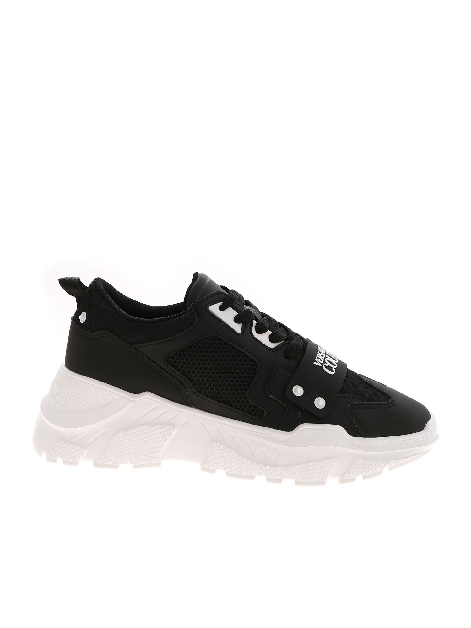 Versace Jeans Couture Sneakers RUBBERIZED LOGO SNEAKERS IN BLACK